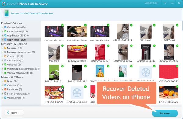 Recover Deleted Videos from iPhone or iPad