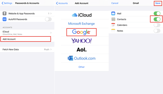How to Print iPhone Contacts from Gmail.