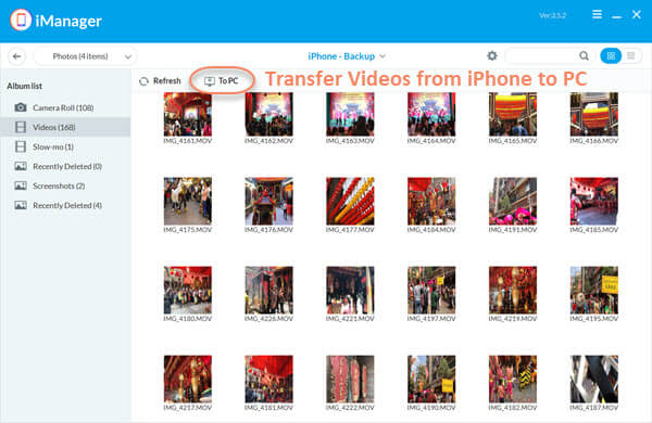 Transfer Videos from iPhone to PC with Gihosoft iManager