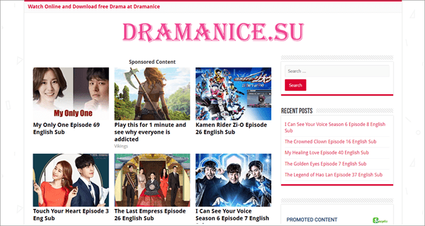 Dramanice has become one of the three major websites offering Korean drama.
