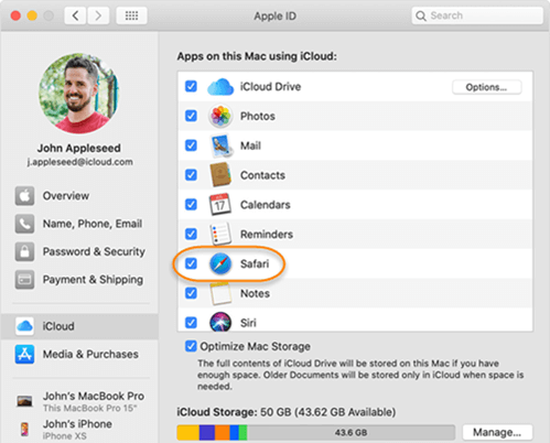 Sync Safari Bookmarks from iPhone to Mac