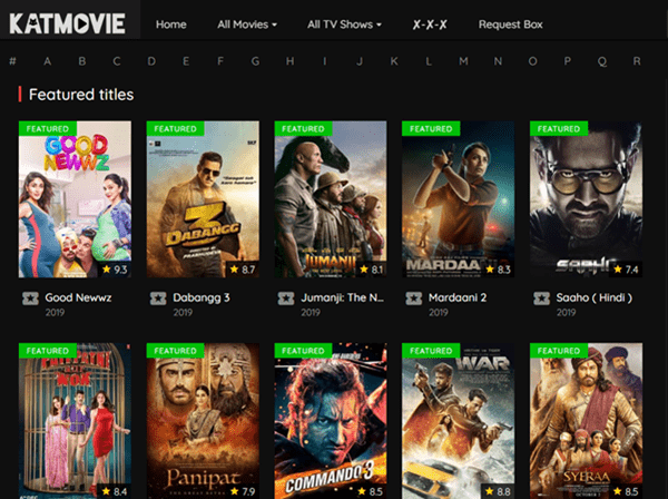 The UI of KatMovie attract the eyesight of many movie fans.