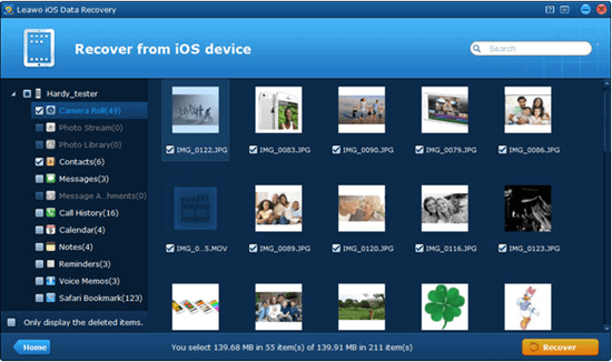 Leawo iOS Date Recovery software can recover 12 kinds of lost files from the iTunes