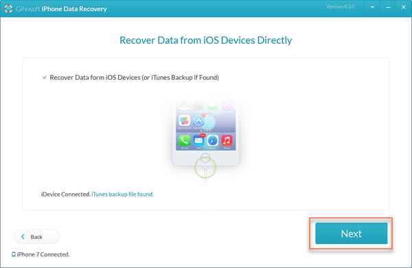 Restore iPhone without iTunes using Gihosoft iPhone Recovery