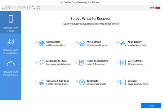 Stellar Data Recovery for iPhone is an excellent iOS data recovery program