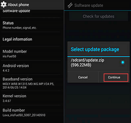 How to Update Android Version with Upgrade Package.