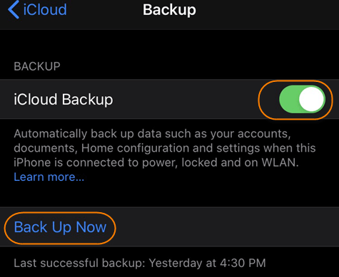 Backup iPhone to iCloud instead of iTunes.