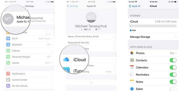 Check Available iCloud Storage