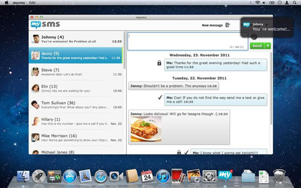 MySMS is an app that you can install on your computer and easily read your iPhone text messages.