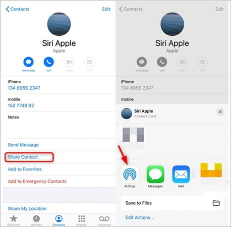 How to AirDrop Contacts from iPhone to Mac