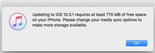 Change Media Sync Options on iPhone.