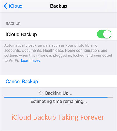 iCloud Backup Taking Forever Issue.