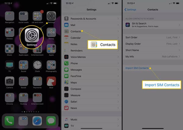 How to Import Contacts from SIM Card to iPhone.