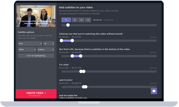 Kapwing is another online editing application that can be used to add texts and captions to your videos as well as GIFs and images.