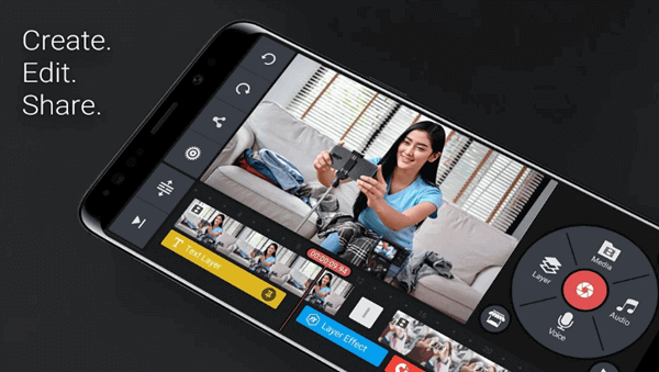 KineMaster is an advanced video editing tool that has been developed for iPhone and Android phones.