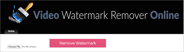 follow these steps to use this online watermark remover tool to erases the most rigid and strong watermarks in videos