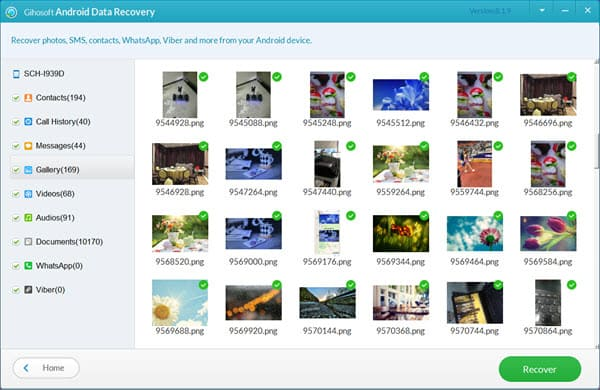 Restore Deleted Photos from Samsung without Backup.
