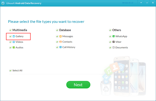 Restore Deleted Photos from Samsung without Backup