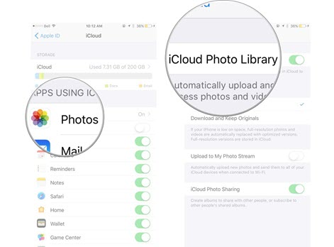 Enable iCloud Photo Library Again.