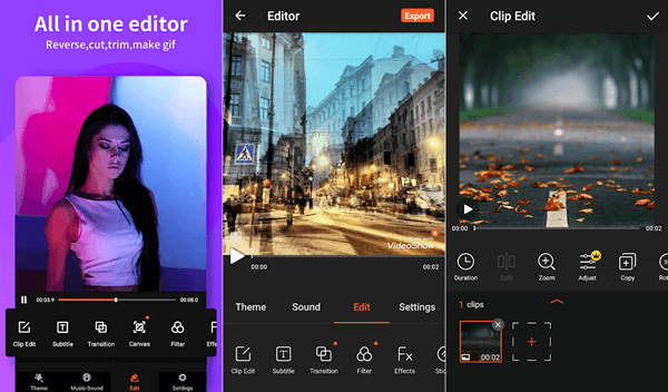 Video Show is an amazing mobile app that can be used to editing videos in a hassle-free manner.