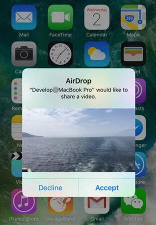 Transfer Videos from Mac Computer to iPhone via AirDrop