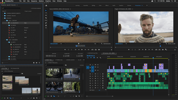 Adobe Premiere Pro is a cool video editor that enables you to split your screen into two, three, four or more.