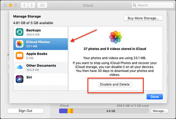 Delete Photos from iCloud Using Mac.