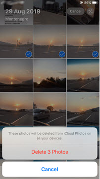 To delete selected photos and videos from iCloud using your iPhone or iPad