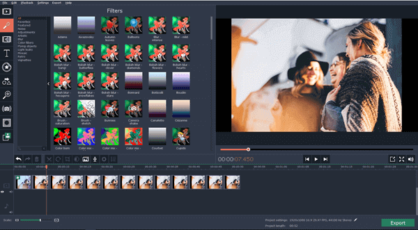 Movavi is an exceptional video editing software that allows you to combine multiple video files into one.