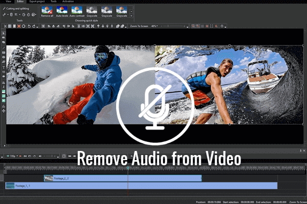 Remove Audio Track from Video Online.