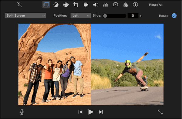 Create Split Screen Videos with iMovie on Mac