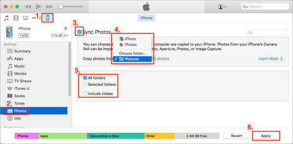 Transfer Photos from Computer to iPhone with iTunes