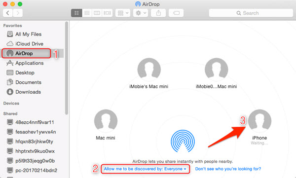 Move Music from Mac to iPhone Using AirDrop