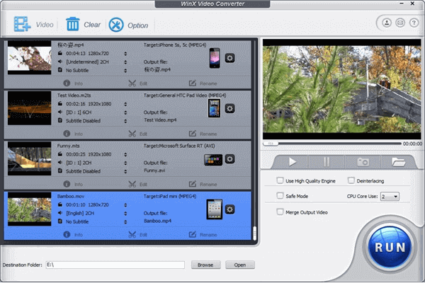 Winx Free Video Converter is an excellent video editor.