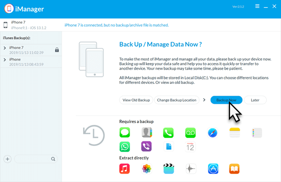 Here's how to backup iPhone data with Gihosoft iManager
