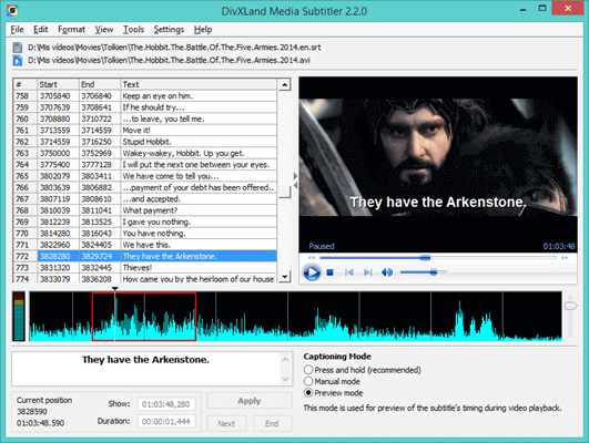 DivXLand Media Subtitler is one of the best subtitle maker to create, edit, and fix external subtitle files for videos in various formats.