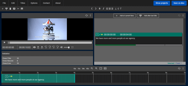 Subtitle Horse maker provides a smooth workflow for you to create subtitles for a video.