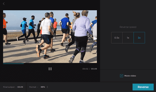 Clideo - Online Video Reverser
