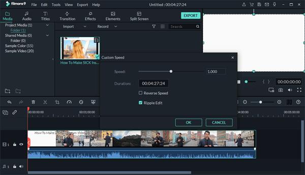 Filmora9 - Reverse Video Software