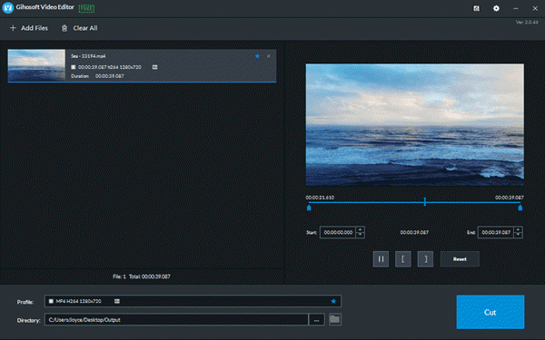 Gihosoft Free Video Cutter is a lossless video cutting software.