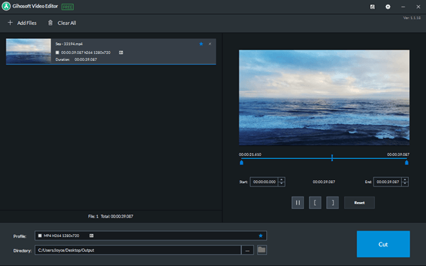 Gihosoft Video Cutterd is a lossless video cutting software which allows users to easily select the cutting area and trim video at fast speed.