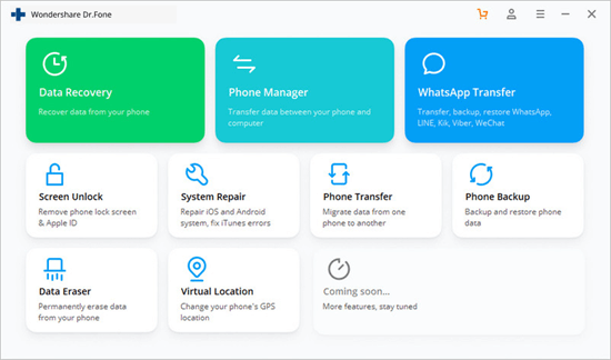 Dr.Fone - Phone Backup (iOS) provides a more flexible solution to backup and restore data.