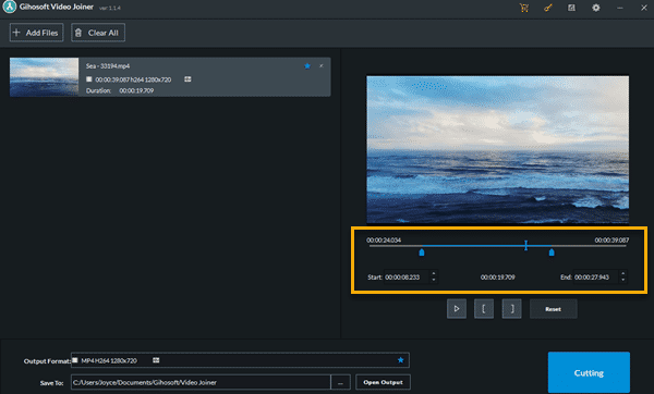 Gihosoft Video Joiner & Cutter is a lightweight two-in-one video editing tool