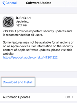 Update iOS Version