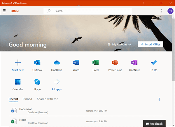Get Office Online for Free on a Web Browser.