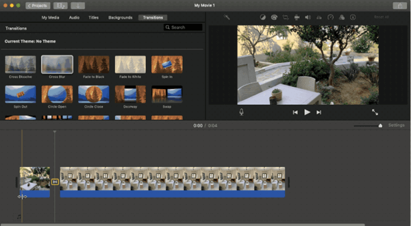 iMovie has all the premium video editing tools and functions