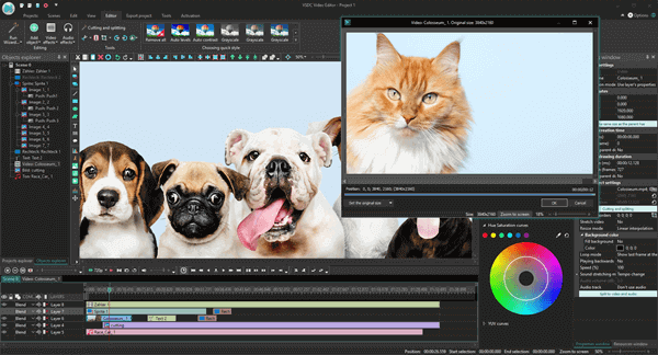 VSDC Video Editor is a free yet highly functional video editing software that enables you to merge videos with different transitions.