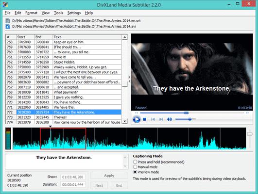 DivXLand Media Subtitler is one of the professional subtitling software