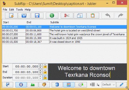Jubler Subtitle Editor is an open-source subtitle editing software