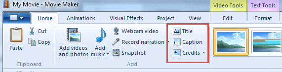 Windows Movie Maker is a totally free video editing program